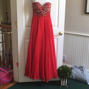 Sherri Hill Red Gown, Size 0